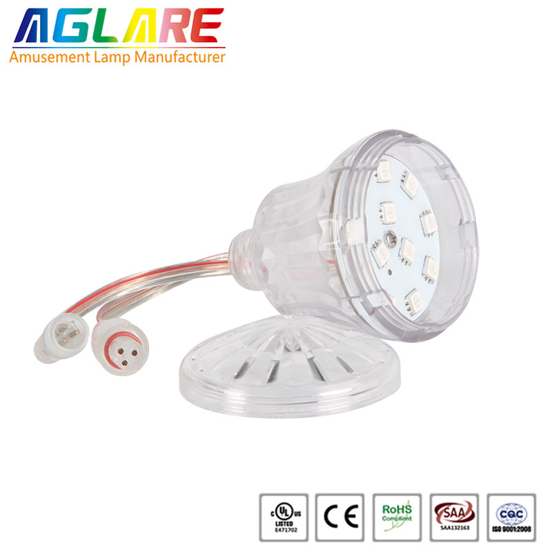 New!!!Waterproof 24v dream color pixel rgb led light bulb 60mm 18leds
