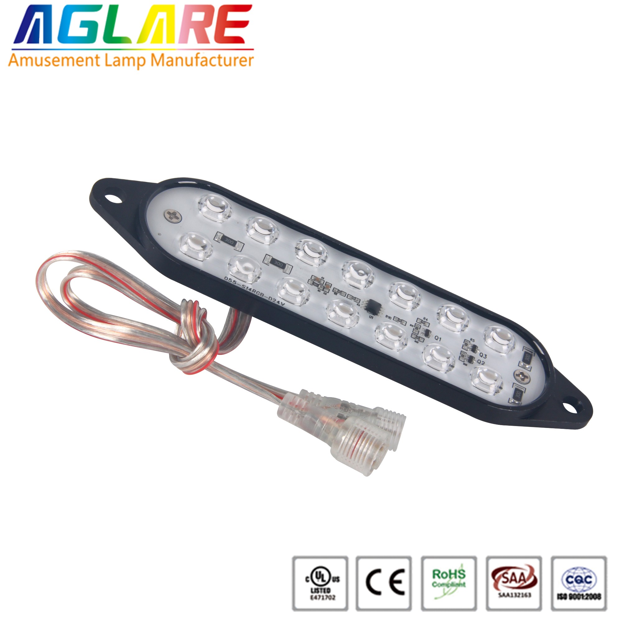 DC24V 14LEDS  Programmable rgb aluminium led amuse...