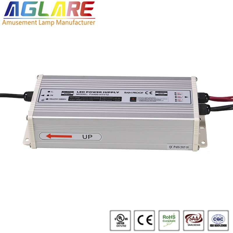 Hot sale IP44 400W AC 220v DC 12V 33.33A led switching power supply